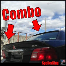 COMBO Spoilers (Fits: Mitsubishi Galant 1999-03) Rear Roof Wing & Trunk Lip