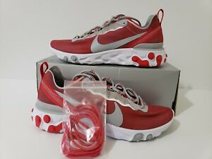 Nike React Element 55 Ohio State PE (Red/White) CK4798-600 Men's Size 9.5