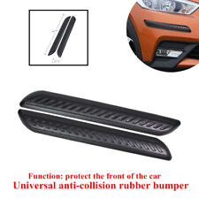 2x40*5*1.3cm Universal Car Front Rubber Anti-collision Bumper Strip Protect Part