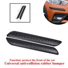 2x40*5*1.3cm Universal Car Front Rubber Anti-collision Bumper Strip Protect Part