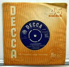 "Tommy Steele - Little White Bull - 45 RPM 7"" vinyl single 1959 Decca F11177"