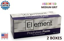 2 BOXES ELEMENT PROPHY PASTE CUPS ASSORTED MEDIUM 200/BOX  DENTAL FLUORIDE