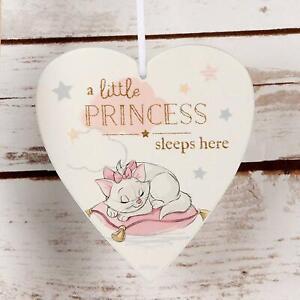 Disney Little Princess Sleeps Here Marie Aristocats Baby Girl Heart Plaque
