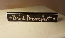 Bed and Breakfast Sign Engraved Wood Sign Black  Desk Home Decor Primitive