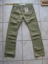 New Boys Youth Kids Levi's 511 Slim Denim Jeans Pants Olive Green 14 Reg 27 x 27