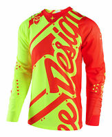 Troy Lee Designs 2018 SE AIR Mens Jersey Shadow - Flo Yellow/Orange