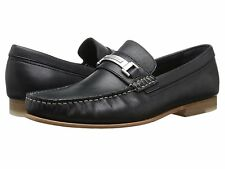 New CALVIN KLEIN Bruce Black Leather Loafers Shoes Mens 8 EXPEDITED MAIL