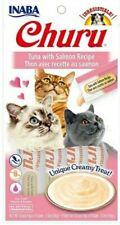 (6) Packs of Inaba Churu, Creamy Tuna w/ Salmon Cat Treat, w/ Vitamin E