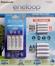 BRAND NEW Eneloop Recharge value pack 1 Charger and 8AA & 4AAA Ni-MH Batteries