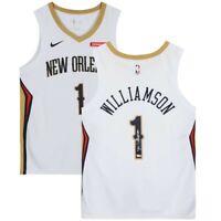 Zion Williamson Hand Signed NBA Nike White Swingman Jersey + Box Fanatics W/ COA