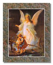 CANVAS ART GUARDIAN ANGEL CHILDREN CHASING BUTTERFLIES RELIGIOUS VINTAGE PRINT