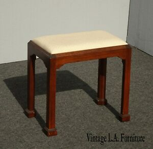 Vintage French Country White Bench by Madison Square Furniture