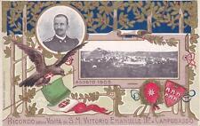 A4711) RICORDO VISITA DI VITTORIO EMANUELE III A CAMPOBASSO, AGOSTO 1905. VG.