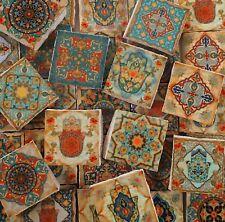 Ceramic Mosaic Tiles - Vintage Hamsa Hand Moroccan Tile Mosaic Tile Pieces