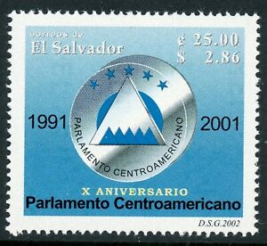 Salvador Scott #1567 MNH Central American Parliament 10th ANN CV$18+