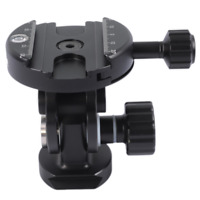 2-Dimensional Ball Head with Quick Release Plate Clamp for Camera Tripod Monopod