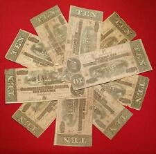 1864 CIVIL WAR CONFEDERATE MONEY $10.00 TEN DOLLAR NOTE BILL RICHMOND VA
