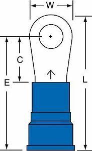 "3M 1/4"" Stud Size 6 AWG Nylon Insulated Brazed Seam Ring Terminal 25PK"