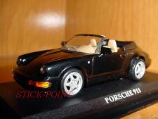 PORSCHE 911 BLACK CABRIO CABRIOLET 1:43 MINT!!!