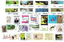 COSTA RICA - Selection of Stamps & Labels on Paper from Kiloware