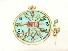 Vintage Store Display Toy Wrist Watch Set of 12, Japan Quality Sign   ref 21559