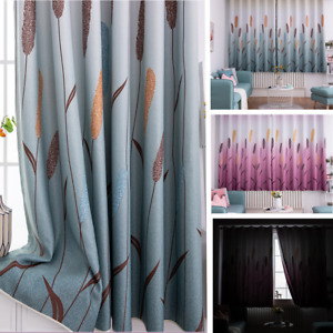 Shade Cartoon Printed Reed Curtain Living Room Decorate Ring Top Privacy Indoor