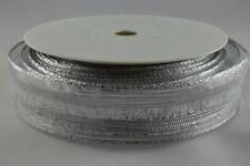 Wired Organza white/silver ribbon 115mm x 1M + 1M FREE!! Christmas 4386211501