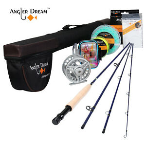9' 5WT Fly Fishing Rod Combo With Larger Arbor Fly Reel WFF Fly Line Combo