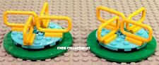 LOT OF 2 Lego City 60134 Fun in the Park minifig accessory MERRY GO ROUND spins!