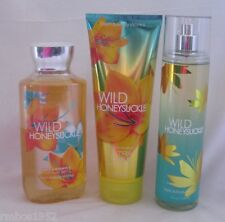 Bath & Body Works Wild Honeysuckle 3 Pc Set Gel Cream Fragrance Mist