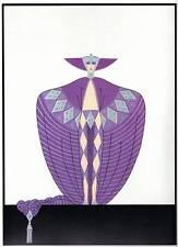 """Vintage ORIGINAL Impresión de Art Deco ERTE """"la sompteuse"""" placa de libro moda"""