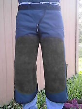 HORSESHOEING CHAPS/FARRIER SHOEING APRON/W/MAG/DARK NAVY BLUE/BRN