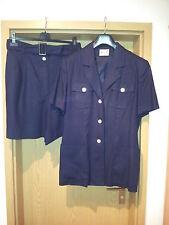 Damen-kombination dunkelblau  Gr. XL, 2-tlg. Blazer und kurze Hose, Miss H