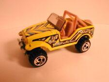 """loose Hotwheels ROLL PATROL jeep CJ7 yell """"mudcat"""" from 1999 BAJA BLAZERS 5-pack"""