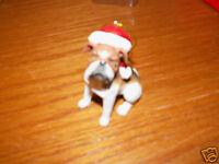 "3"" BULLDOG Santa Hat Christmas Ornament Kurt S. Adler NEW IN BOX"