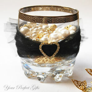 "12 Wedding 1"" Gold Heart Rhinestone Invitation Buckles"