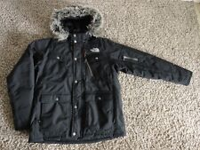 NORTH FACE DOWN HYVENT PARKA JACKET ATTACHED HOOD W/FUR TRIM MEDIUM nice