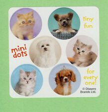 60 Rachael Hale Mini Dot Stickers - Cats, Dogs, Kittens, Puppies - Party Favors