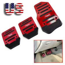 3× Red Car Foot Throttle Brake Clutch Pedals Pad Cover Interior Accessories US