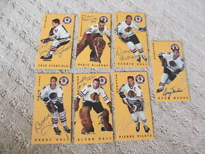 CHICAGO BLACK HAWKS AUTOGRAPHED 7 CARD LOT 1994 NHL  PARHURST TALL BOYS HULL