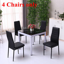 Set of 4 Modern Faux Leather Dining Chairs Dining Room Chair Home Furniture UK