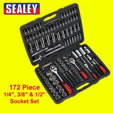 """Sealey AK7955 172pc 1/4"""", 3/8"""" & 1/2""""Sq Drive 6pt Premier Metric Socket Set"""