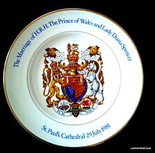"Wood and Sons Pride of Britain Royal Marriage Charles & Diana 1981 10"" PLATE"