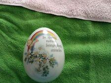 Precious moments egg shaped trinket box