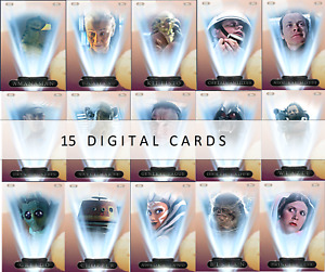 Topps Star Wars Card Trader 2021 Ralph McQuarrie Wave 4 BINARY SUNSET 15 CARDS