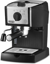 DeLonghi EC155  Espresso Machine with Built-In Frother-Black