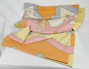 Vtg 70s Peter Max Textile Panel Partial Bed Sheet Tastemaker Mohawk VG ASIS Rare