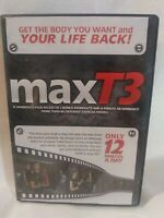 MAXT3 MAX T3 WORKOUT AND EXERCISE DVD Over 12 Workouts
