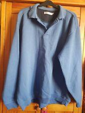 Mens Blue Polo Shirt Jumper Size XL