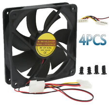 4 pack 120mm 120x25mm 1800PRM 12V 4Pin DC Brushless PC Computer Case Cooling Fan